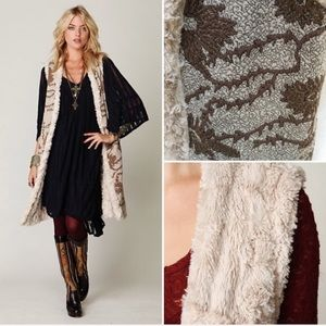 Free People Reversible Faux Fur & Embroidered Vest